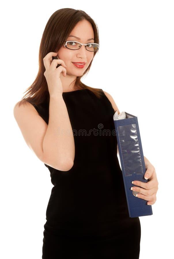 όμορφη επιχειρηματίας πο&upsi στοκ εικόνα