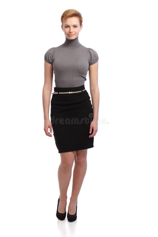 Όμορφη επιχειρηματίας στη μίνι φούστα στοκ φωτογραφία με δικαίωμα ελεύθερης χρήσης