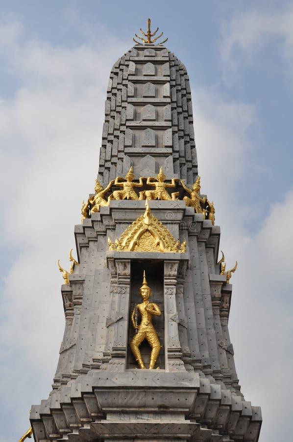 Όμορφη λεπτομέρεια της παγόδας σε Wat Pho, Μπανγκόκ, Ταϊλάνδη στοκ εικόνες με δικαίωμα ελεύθερης χρήσης