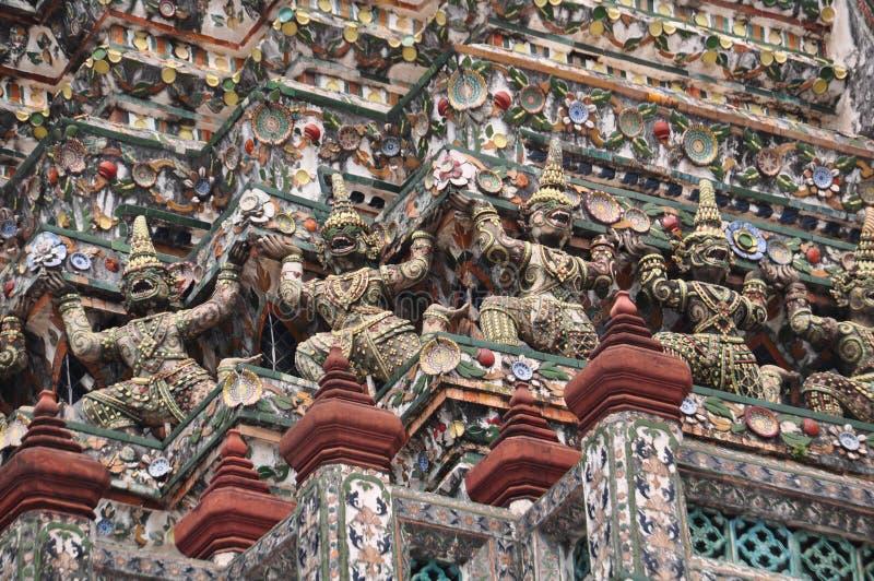 Όμορφη λεπτομέρεια της παγόδας σε Wat Pho, Μπανγκόκ, Ταϊλάνδη στοκ φωτογραφίες με δικαίωμα ελεύθερης χρήσης
