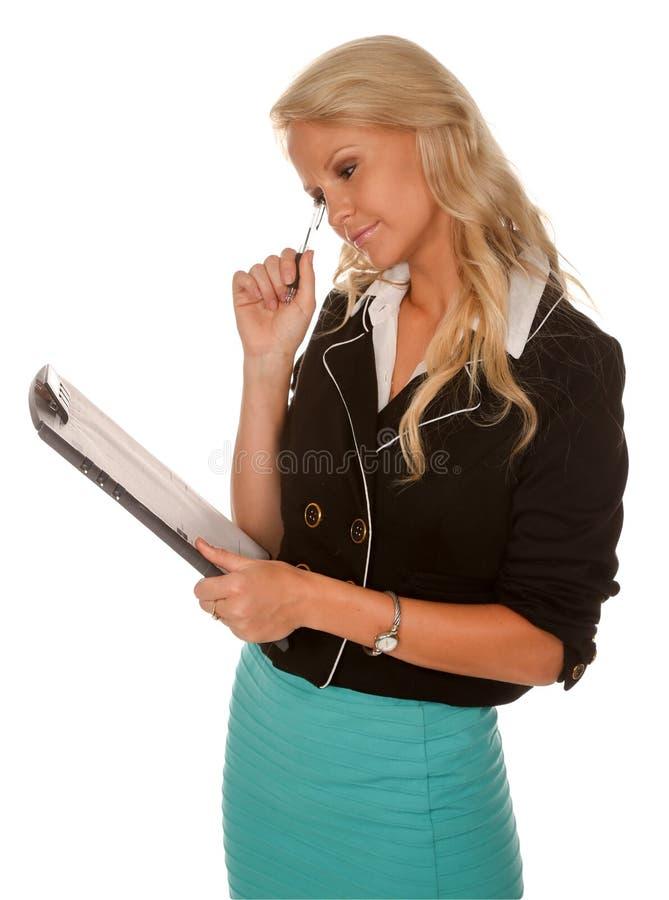 Όμορφη εταιρική γυναίκα γραφείων στοκ εικόνες με δικαίωμα ελεύθερης χρήσης
