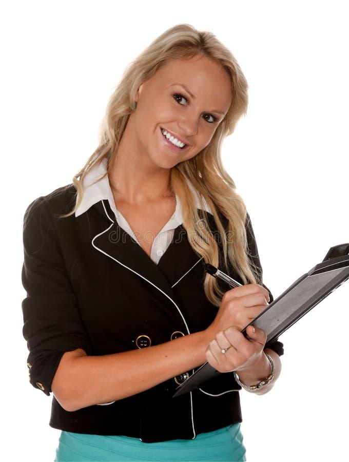 Όμορφη εταιρική γυναίκα γραφείων στοκ εικόνα με δικαίωμα ελεύθερης χρήσης