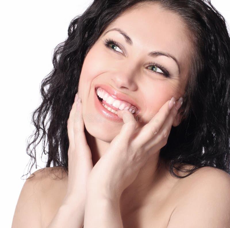 όμορφη ευτυχής γυναίκα στοκ φωτογραφίες με δικαίωμα ελεύθερης χρήσης