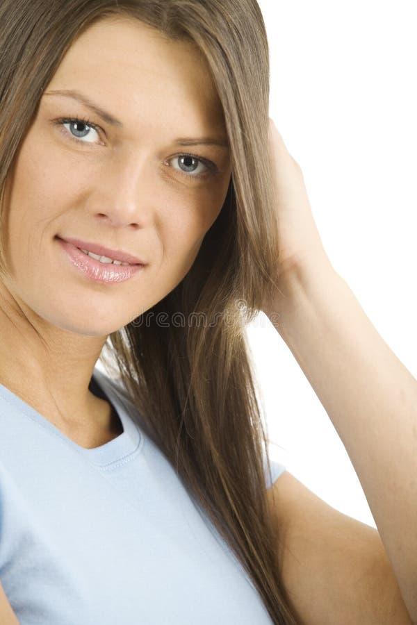 όμορφη εύθυμη γυναίκα στοκ εικόνα με δικαίωμα ελεύθερης χρήσης