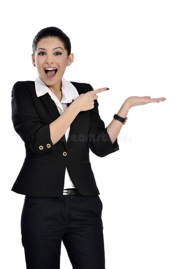 Όμορφη ελκυστική επιχειρηματίας στοκ φωτογραφία