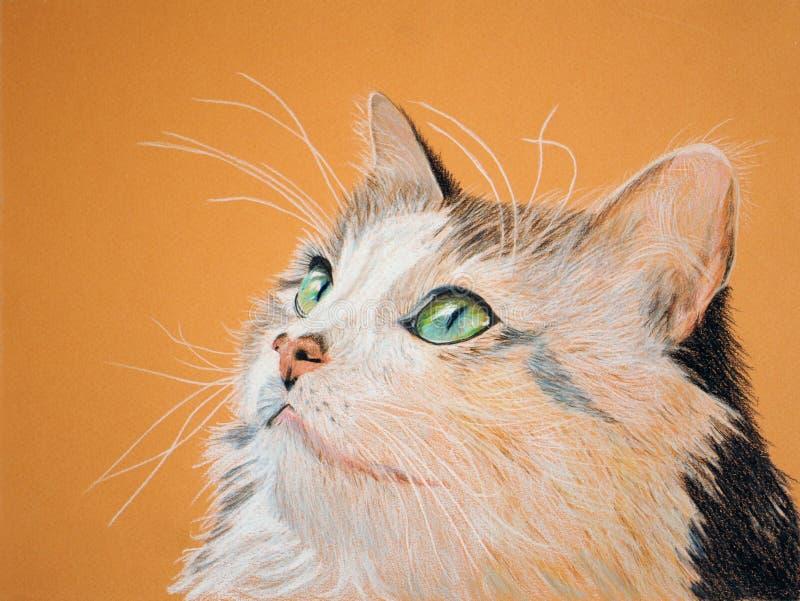 όμορφη ζωγραφική γατών ελεύθερη απεικόνιση δικαιώματος