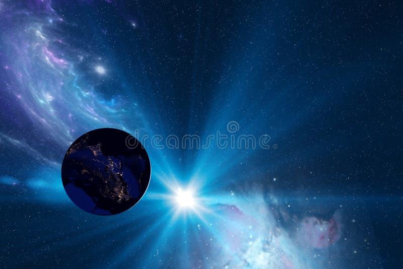 Όμορφη ηλιακή έκλειψη ελεύθερη απεικόνιση δικαιώματος