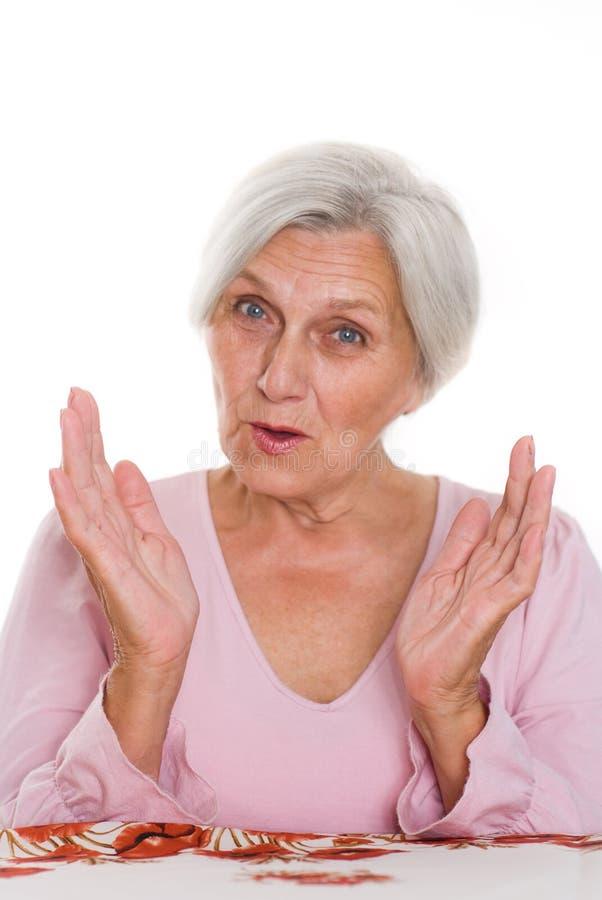 Όμορφη ηλικιωμένη γυναίκα στοκ φωτογραφία