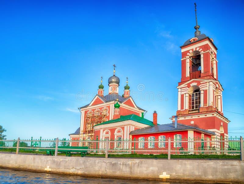 Όμορφη θέα της Εκκλησίας των Σαράντα μαρτύρων της Σεβαστής στην πόλη του Χρυσού Δαχτυλιδιού Περεσλάβλ Ζαλέσκι στοκ εικόνες