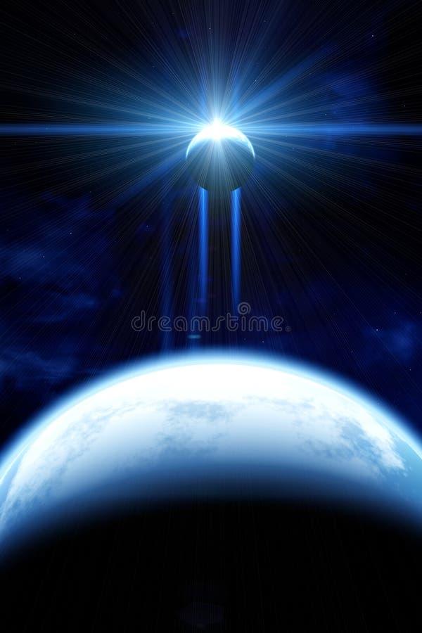 Όμορφη διαστημική σκηνή ελεύθερη απεικόνιση δικαιώματος