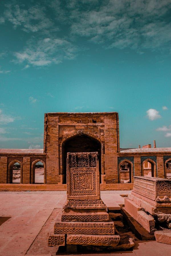 Όμορφη ισλαμική καλλιγραφία Παλαιός τάφος σε Makkli στοκ εικόνες