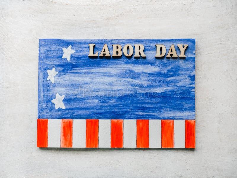 Όμορφη κάρτα με τα συγχαρητήρια στη Εργατική Ημέρα στοκ εικόνα με δικαίωμα ελεύθερης χρήσης