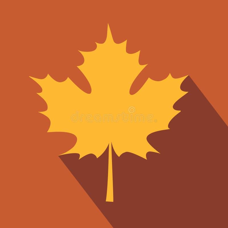 Όμορφη κάρτα με το φύλλο σφενδάμου φθινοπώρου απεικόνιση αποθεμάτων