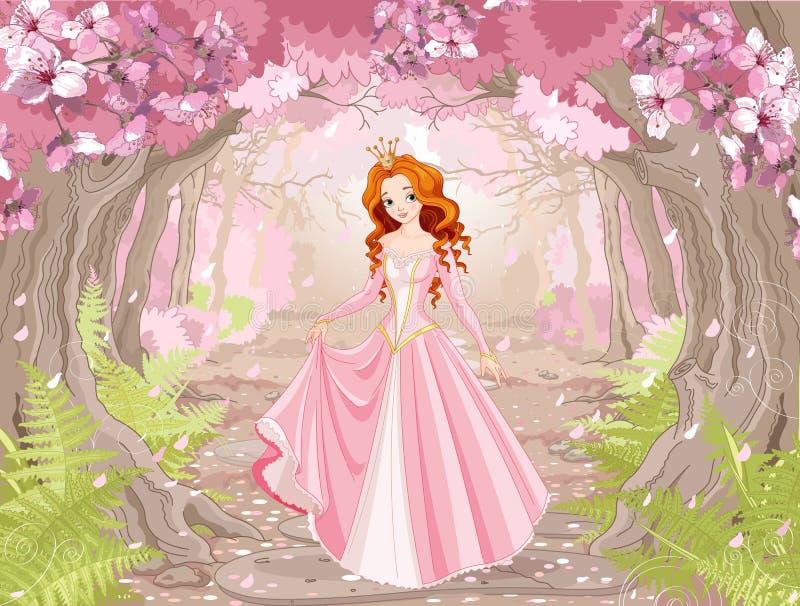 Όμορφη κοκκινομάλλης πριγκήπισσα απεικόνιση αποθεμάτων