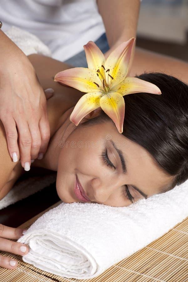 όμορφη κυρία salon spa στοκ φωτογραφίες