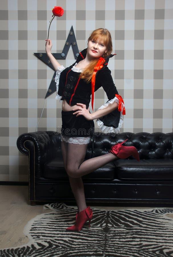 Όμορφη κυρία vamp στοκ φωτογραφίες