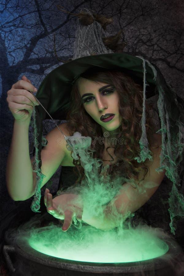 Όμορφη μάγισσα στοκ εικόνες