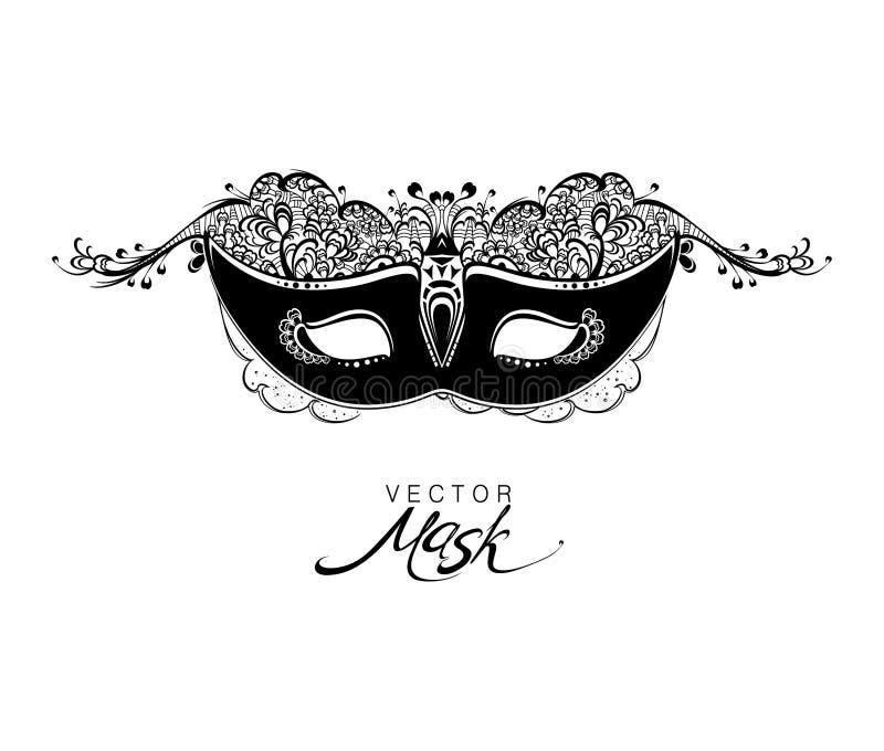 Όμορφη μάσκα της δαντέλλας ελεύθερη απεικόνιση δικαιώματος