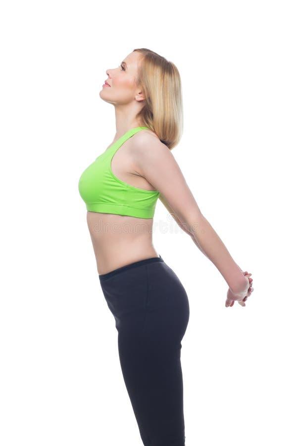 Όμορφη μέση ηλικίας γυναίκα που κάνει την αθλητική άσκηση στοκ φωτογραφία με δικαίωμα ελεύθερης χρήσης