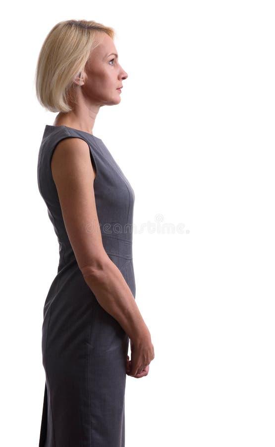 Όμορφη μέση ηλικίας γυναίκα Όψη σχεδιαγράμματος στοκ φωτογραφία με δικαίωμα ελεύθερης χρήσης
