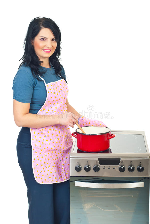 όμορφη μαγειρεύοντας νο&iota στοκ φωτογραφίες με δικαίωμα ελεύθερης χρήσης