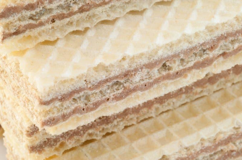 Όμορφη μακροεντολή της γκοφρέτας φουντουκιών στοκ φωτογραφία με δικαίωμα ελεύθερης χρήσης