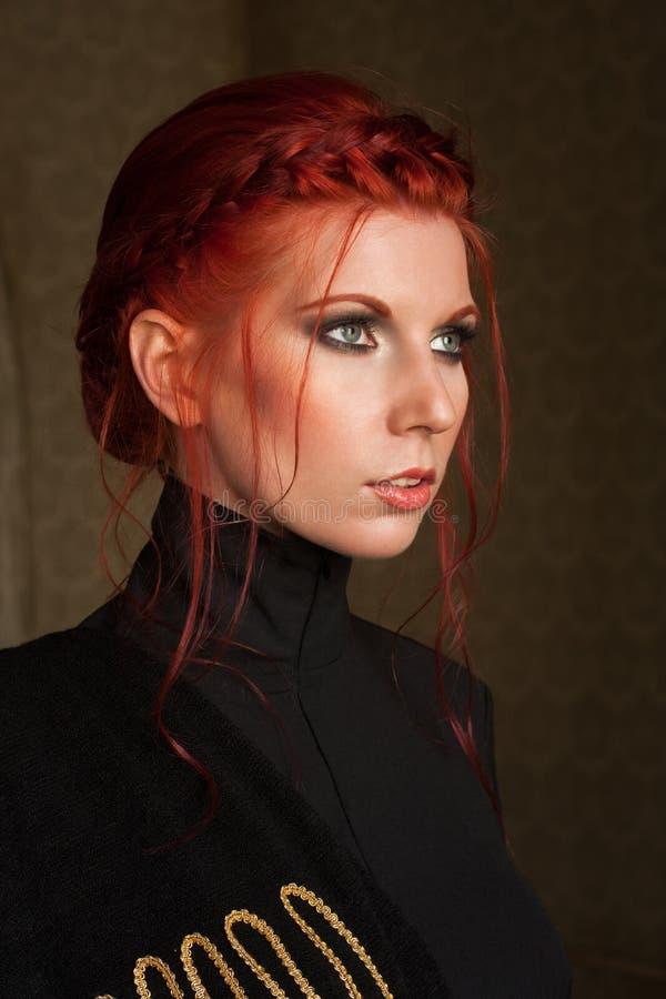 όμορφη μαλλιαρή κόκκινη γ&upsilon στοκ εικόνες