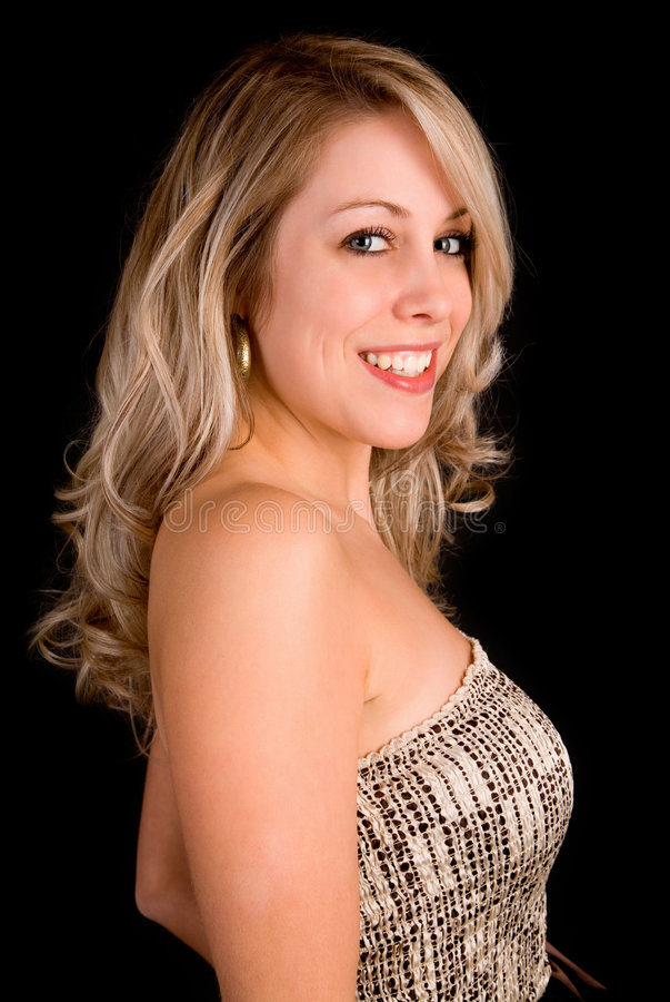 όμορφη μπεζ ξανθή κυρία φορ&ep στοκ εικόνες
