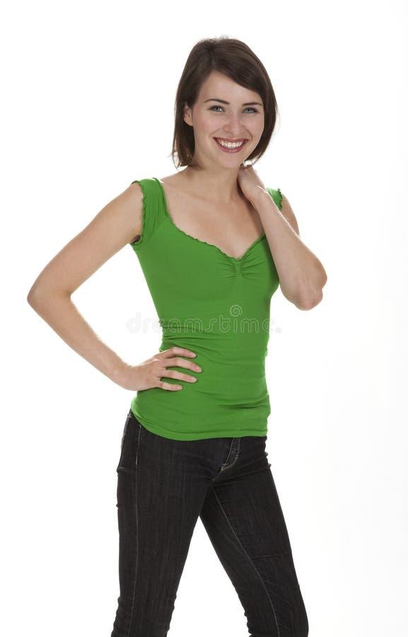 όμορφη μόνιμη γυναίκα στοκ φωτογραφίες με δικαίωμα ελεύθερης χρήσης