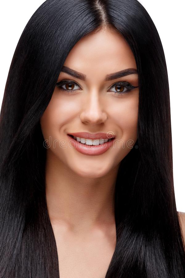 Όμορφη νέα γυναίκα με την καθαρή υγιή τρίχα στοκ εικόνες με δικαίωμα ελεύθερης χρήσης