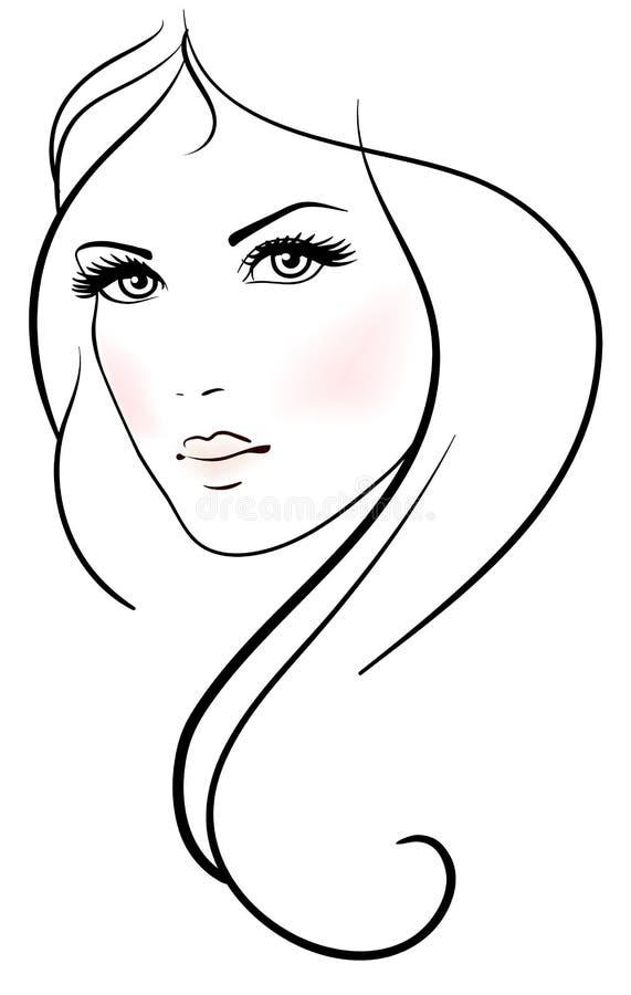 Όμορφη νέα γυναίκα διανυσματική απεικόνιση