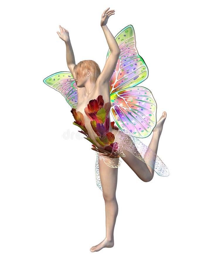 όμορφη νεράιδα πεταλούδω&nu διανυσματική απεικόνιση