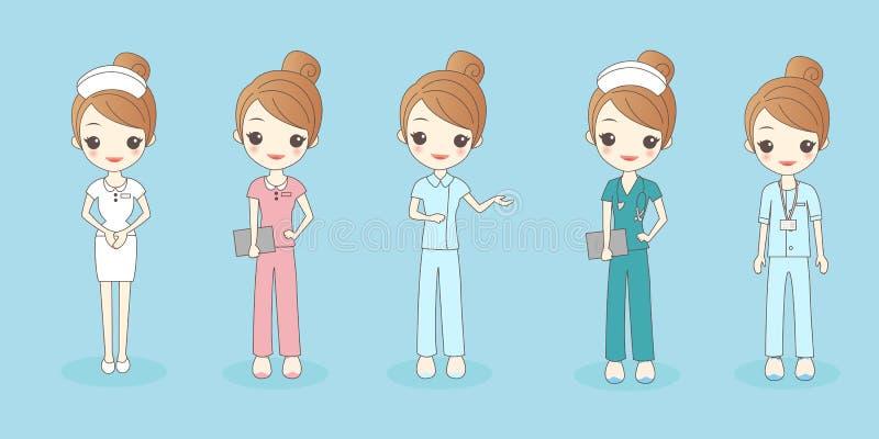 Όμορφη νοσοκόμα κινούμενων σχεδίων ελεύθερη απεικόνιση δικαιώματος
