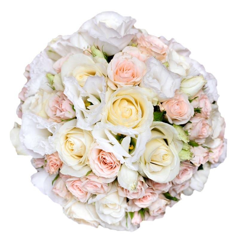 Όμορφη νυφική ανθοδέσμη στη δεξίωση γάμου, δέσμη των λουλουδιών Είναι στοκ εικόνα με δικαίωμα ελεύθερης χρήσης