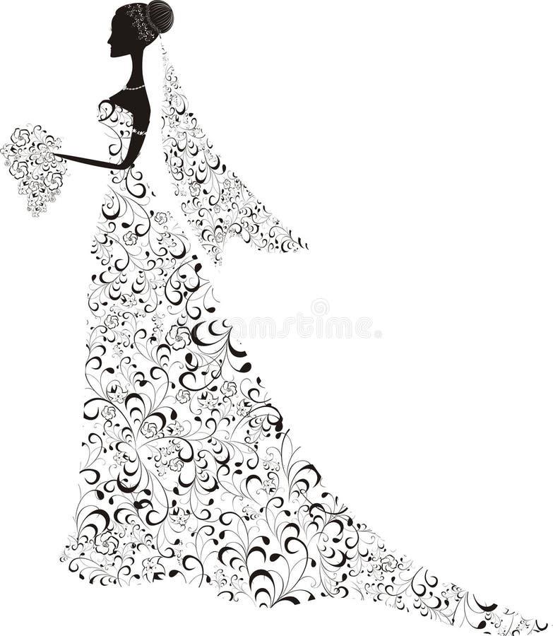 όμορφη νύφη απεικόνιση αποθεμάτων