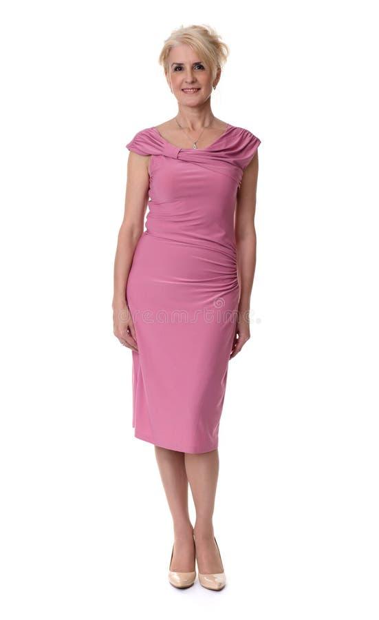 Όμορφη ξανθή ανώτερη γυναίκα Πλήρες μήκος στοκ φωτογραφίες με δικαίωμα ελεύθερης χρήσης