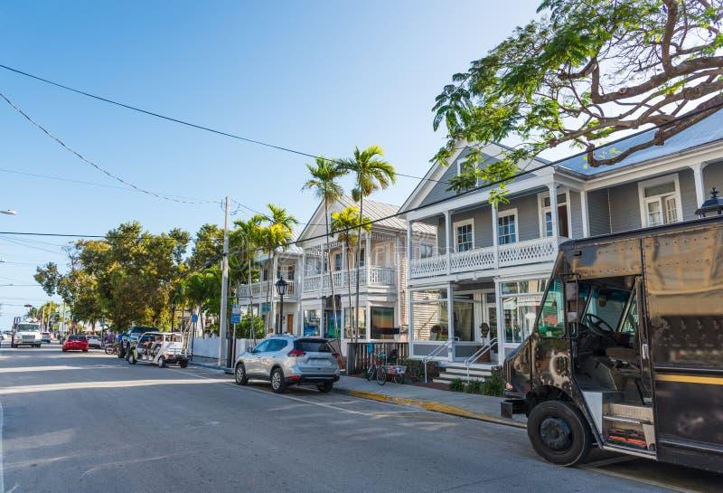 Όμορφη οδός Duval στη Key West στοκ φωτογραφίες