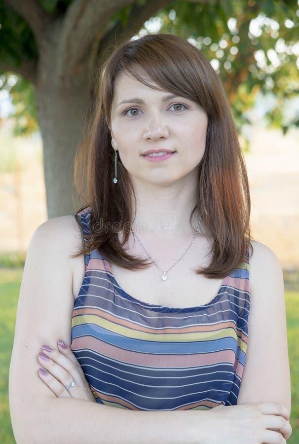 όμορφη ομορφιάς γυναίκα πορτρέτου φύσης ματιών makeup φυσική στοκ φωτογραφία με δικαίωμα ελεύθερης χρήσης