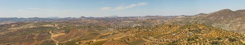 Όμορφη πανοραμική φωτογραφία της οροσειράς de Grazalema. στοκ εικόνα