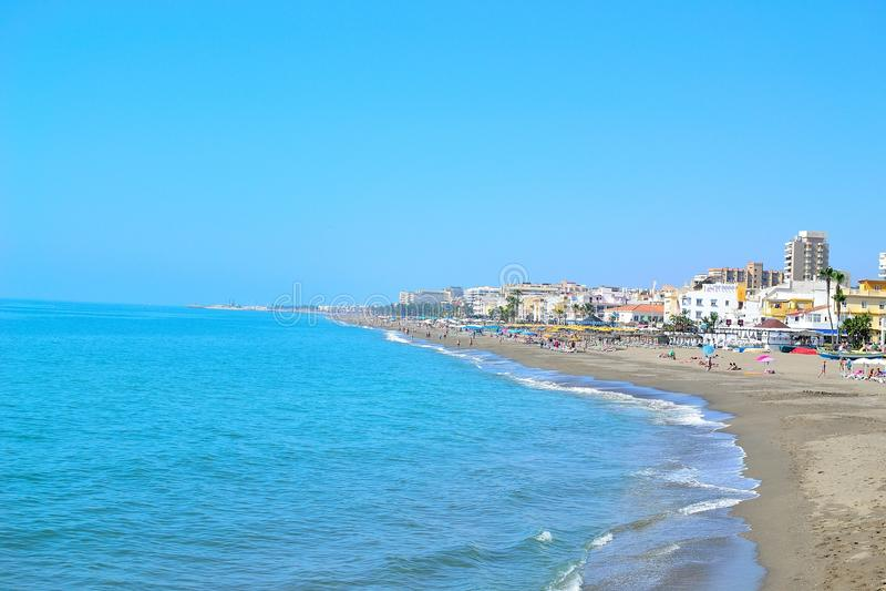 όμορφη παραλία θάλασσας Torremolinos στοκ φωτογραφία με δικαίωμα ελεύθερης χρήσης