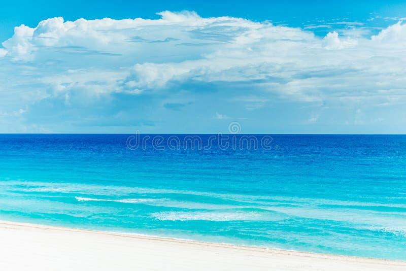Όμορφη παραλία σε Cancun στοκ φωτογραφία