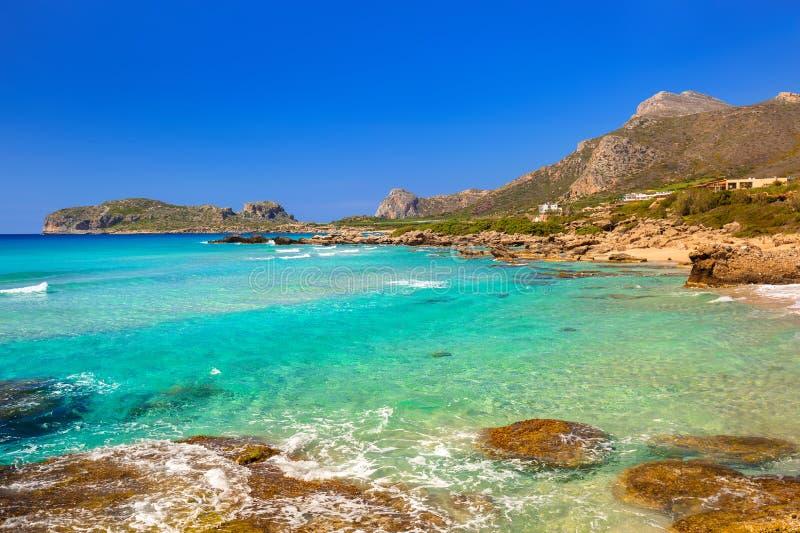 Όμορφη παραλία Falassarna στην Κρήτη στοκ φωτογραφία με δικαίωμα ελεύθερης χρήσης