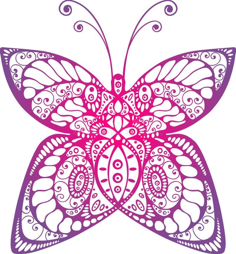 όμορφη πεταλούδα αρχική διανυσματική απεικόνιση
