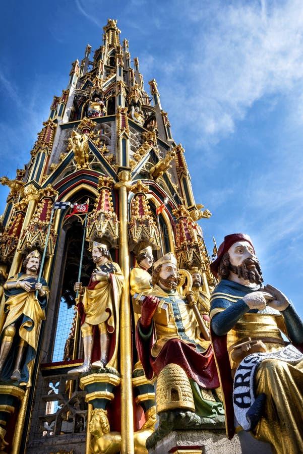 Όμορφη πηγή στη Νυρεμβέργη, Γερμανία στοκ φωτογραφία με δικαίωμα ελεύθερης χρήσης
