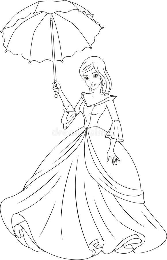 όμορφη πριγκήπισσα διανυσματική απεικόνιση