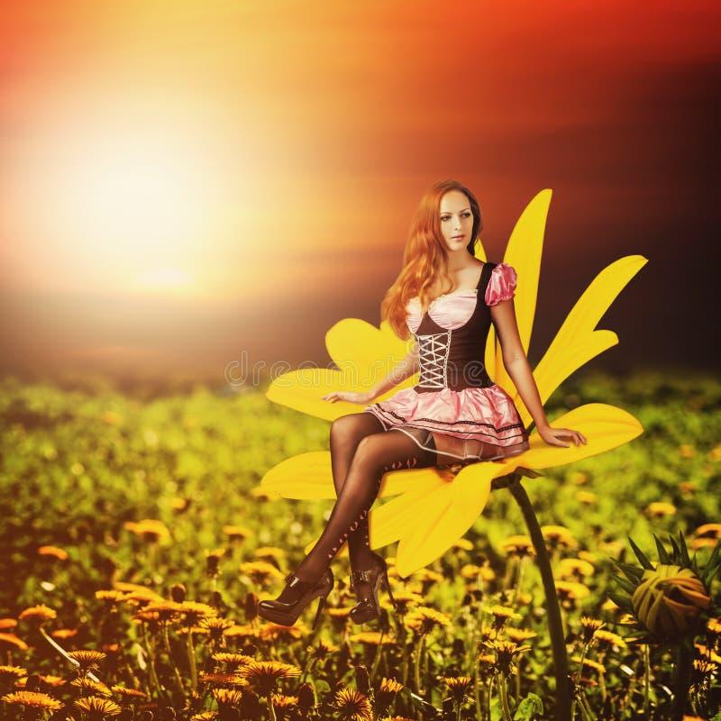 Όμορφη προκλητική γυναίκα pixie στοκ εικόνα με δικαίωμα ελεύθερης χρήσης