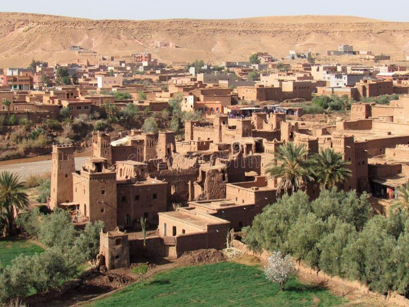 Όμορφη πόλη Ksar Ait Ben Haddou στο κέντρο Μαρόκο στοκ εικόνα με δικαίωμα ελεύθερης χρήσης
