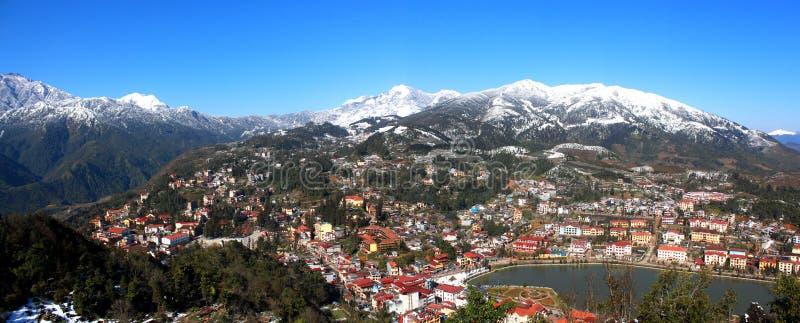 Όμορφη πόλη Sapa στοκ εικόνα