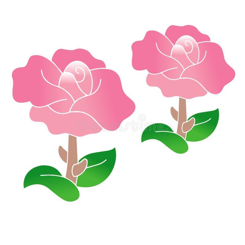 Όμορφη ρόδινη διανυσματική φύση λουλουδιών στοκ εικόνα