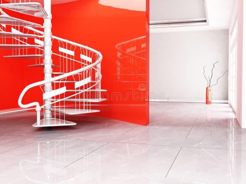 όμορφη σπειροειδής σκάλα διανυσματική απεικόνιση
